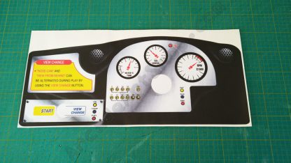 sega rally upright dash decal
