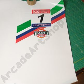 sega rally upright kickplate decal