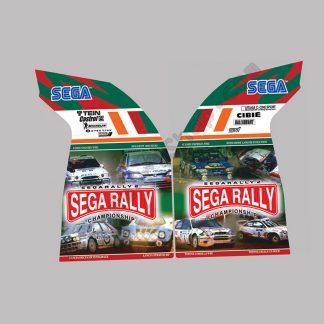 sega rally 2 upright side art pair