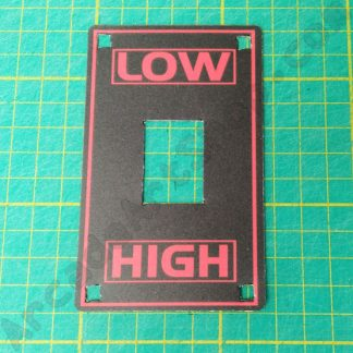 high low shifter decal red and black