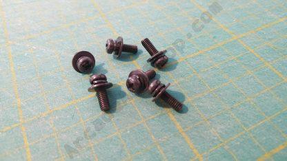 m4x12mm black pan head screw washer pack 6