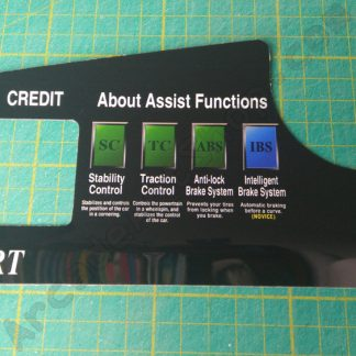f355 dash instruction decal