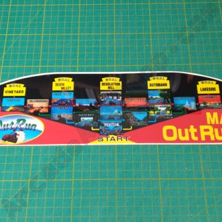 outrun upright map decal lexan polycarbonate
