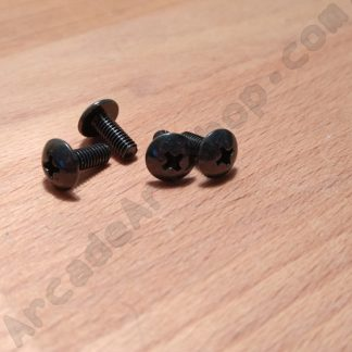 m4x12mm black screw pack 4
