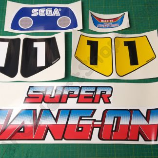 super hang on deluxe sticker set