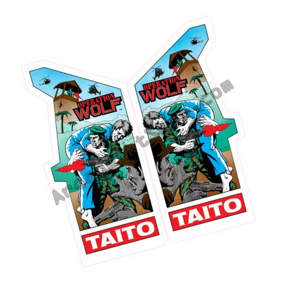 taito electrocoin operation wolf full upright side art