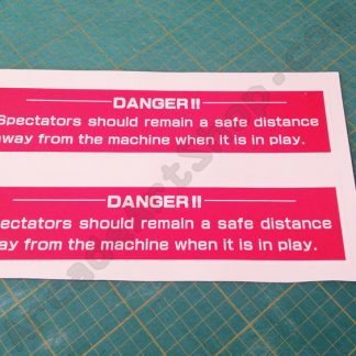 sega dlx danger stickers