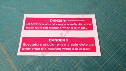 sega dlx danger stickers