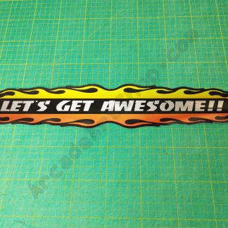 lets get awesome brushed metallic silver decal