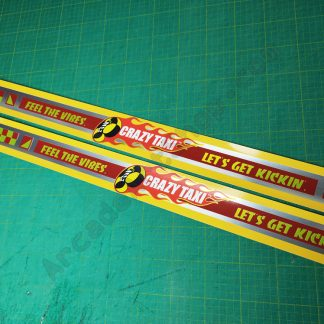 crazy taxi side art set brushed metallic