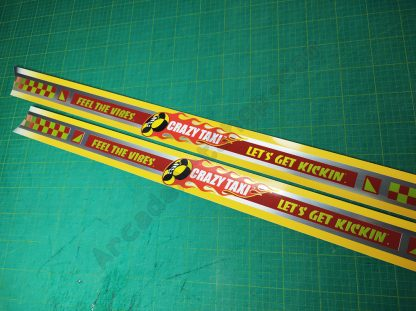 crazy taxi side art set brushed metallic