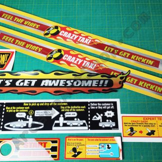 crazy taxi sega upright sticker set 8 pieces