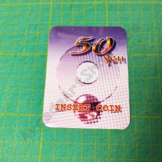 egret 3 50 yen insert coin decal