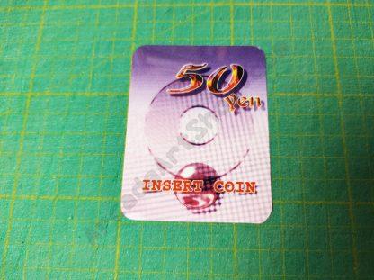 egret 3 50 yen insert coin decal