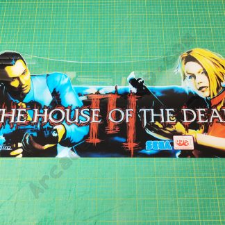 house of the dead 3 upright marquee plexi