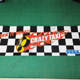 crazy taxi seat cover sticker park it here