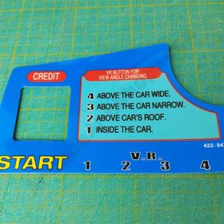 daytona usa dash decal with credit cutout