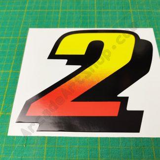 daytona usa number 2 seat sticker