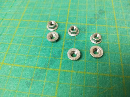 m5 flange nuts pack of 6