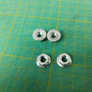 m6 flange nut pack of 4