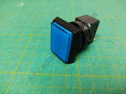 blue rectangle push button sega