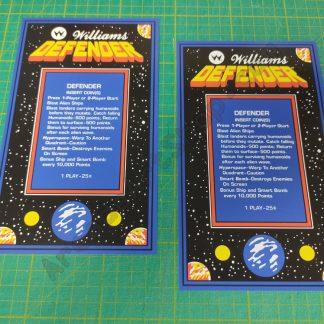 defender cocktail instruction cards