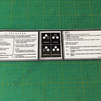 pit fighter instruction stickerr