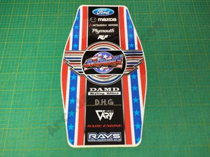nos sega race-tv seat back sticker