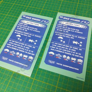 space invaders part II instruction cards cocktail