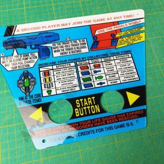 taito space gun instruction control panel plexi