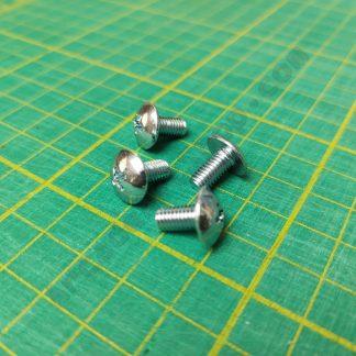 m5x10mm chrome screws pack 4