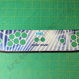 NOS sega 2L12B metallic cpo control panel overlay