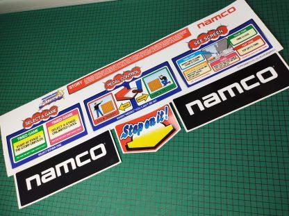 time crisis upright sticker set